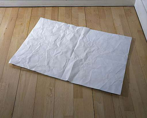 d.shringley_ sculpture of a piece of paper
